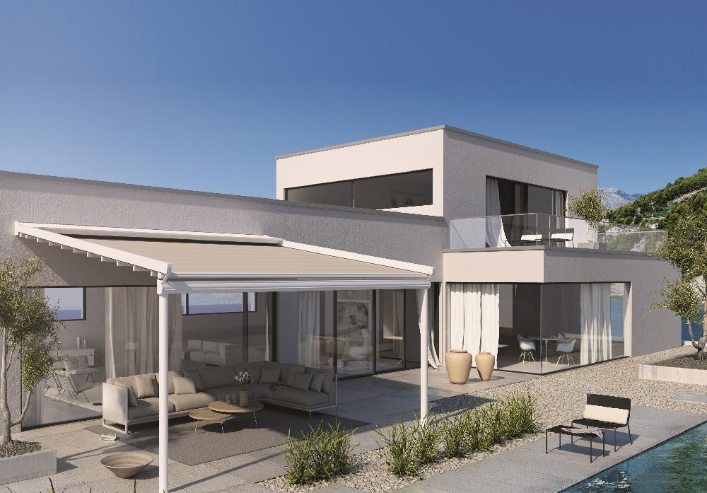 Vub 101 terrasoverkapping - Terras eigentijds huis ...
