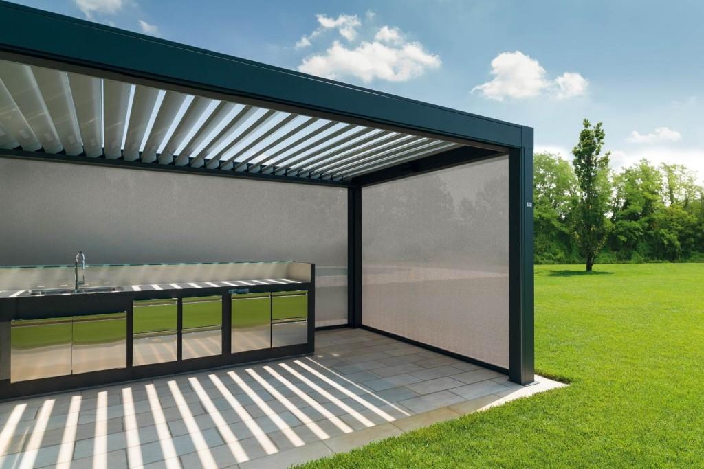 garage exterior ideas pergola - Terrasoverkapping Buitenkamer Opera Lamellen